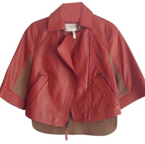BCBGMAXAZRIA Burnt orange Leather Jacket