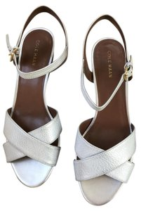 Cole Haan Fun Comfortable Silvery-white Sandals