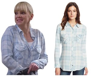 Rails Plaid Button Down Shirt Light blue