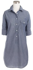 J.Crew Chambray Popover Cotton Tunic