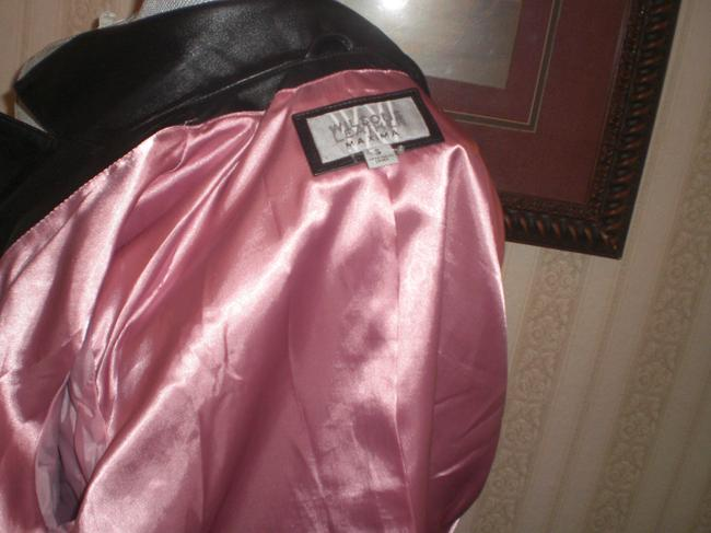 Wilson Buttoned Front black Leather Jacket Image 5