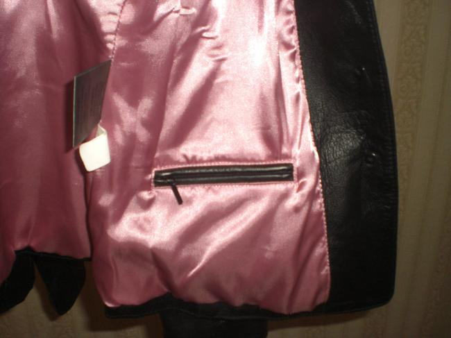 Wilson Buttoned Front black Leather Jacket Image 6