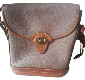 Dooney & Bourke Leather Saddle Tan Taupe Cross Body Bag