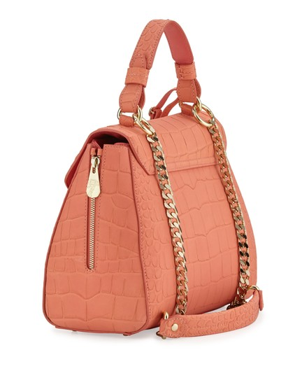 Versace Collection Satchel in Coral Image 2