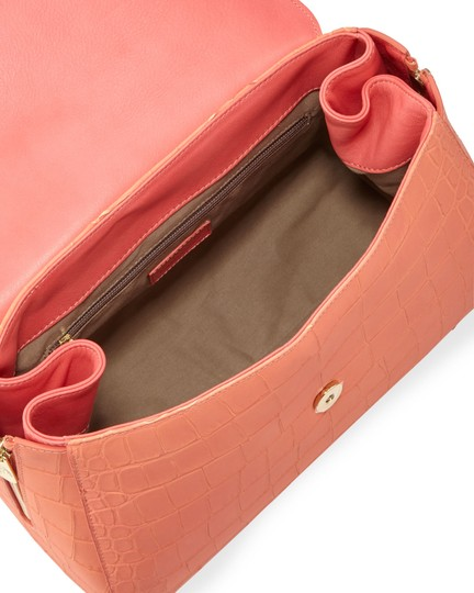Versace Collection Satchel in Coral Image 3