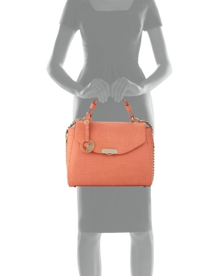 Versace Collection Satchel in Coral Image 4
