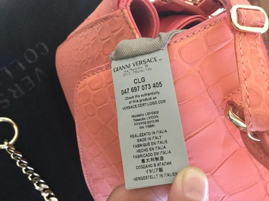 Versace Collection Satchel in Coral Image 5