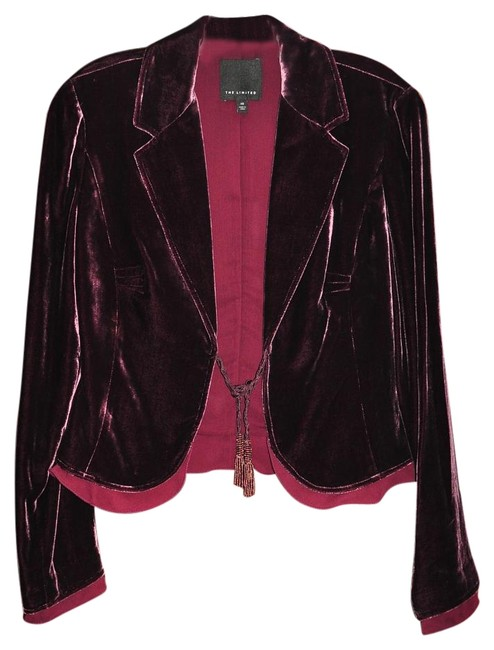 The Limited Burgundy Blazer Image 0