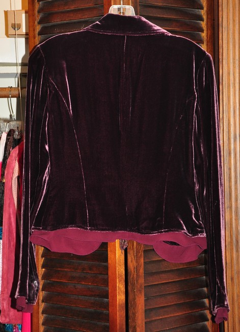 The Limited Burgundy Blazer Image 1