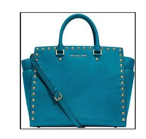 Michael Kors Studded Tote in Turquoise
