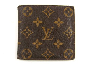 Louis Vuitton Marco Monogram Canvas Leather Bifold Wallet w/ Dustbag