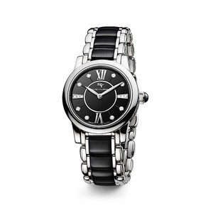 David Yurman Classic 30mm Quartz Watch with Black Ceramic and Diamonds