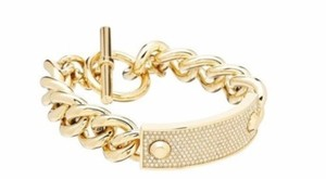 Michael Kors Michael Kors Gold Pave Plaque Toggle Bracelet