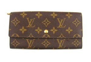 Louis Vuitton Vintage Sarah Monogram Canvas Leather Clutch Long Wallet w/ Box
