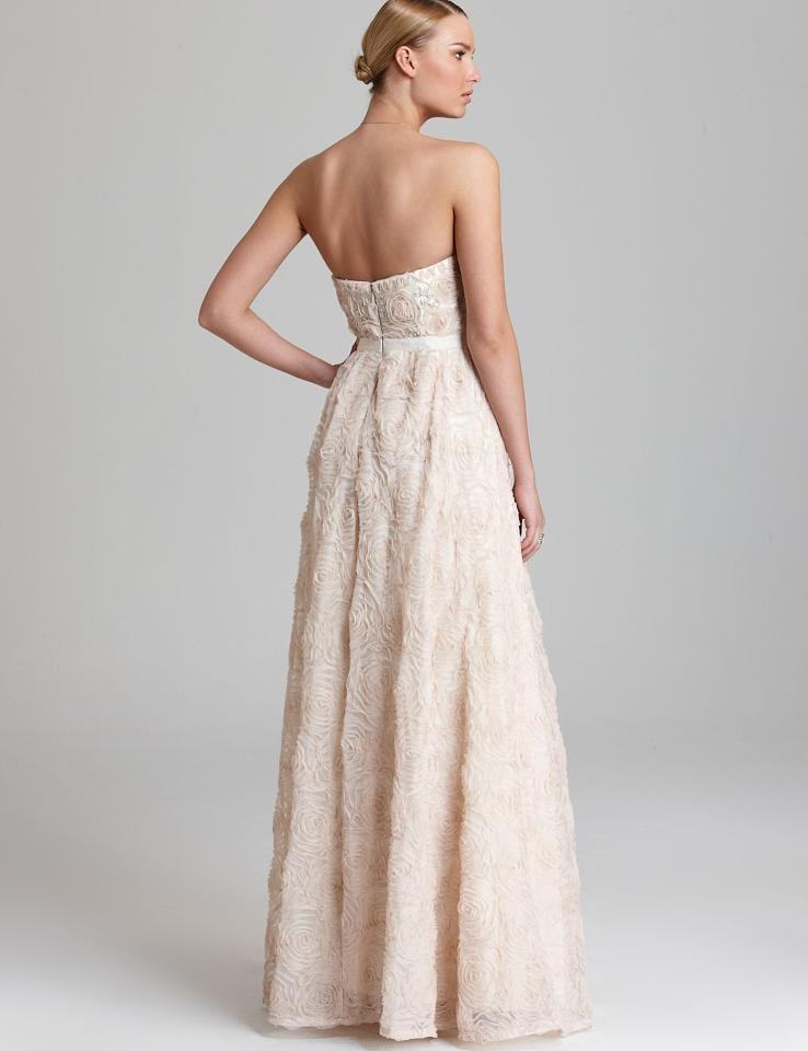 Adrianna papell strapless tulle ball gown wedding dress on for Adrianna papell wedding guest dresses