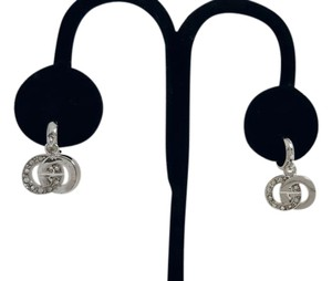 Silver and Crystal G Initial Post Earrings Silver and Crystal G Initial Post Earrings