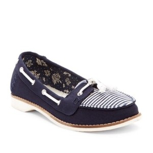 TOMS Navy blue/white Flats