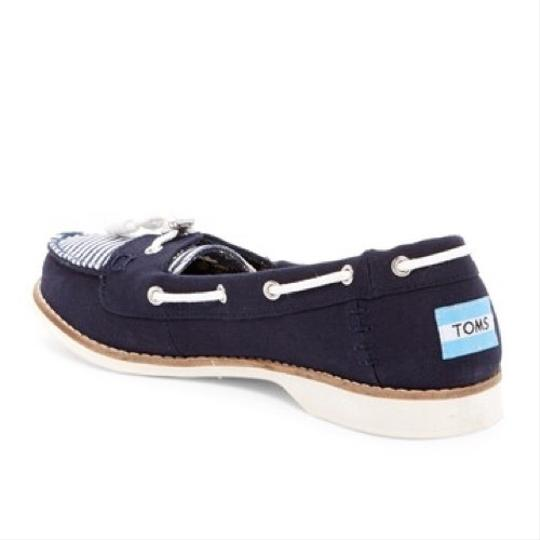 TOMS Navy blue/white Flats Image 1