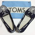 TOMS Navy blue/white Flats Image 3