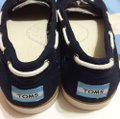 TOMS Navy blue/white Flats Image 6