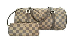 Louis Vuitton Papillon Damier Canvas 26 Ebene Shoulder Bag