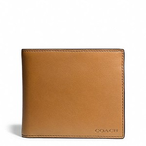 Coach Coach men's Leather COMPACT ID WALLET with removable passcase