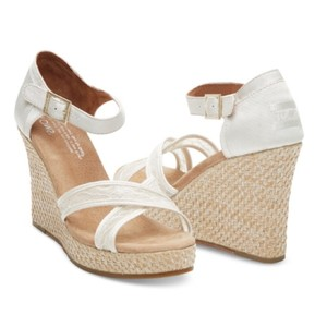 TOMS Whitw Ivory Wedges