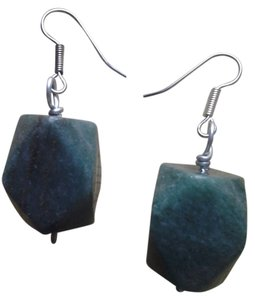 Handmade Buy3Get1 NEW Handmade Lucky AVENTURINE CHUNK EARRINGS Genuine Gemstone Green Stones NWOT