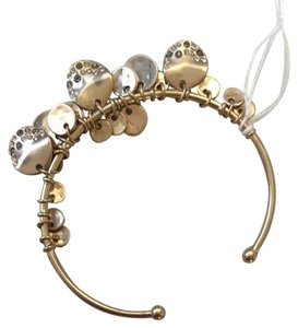 Chloe + Isabel 12k Gold Plated Bracelet With Champagne And Clear Rhinestones