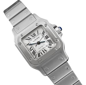 Cartier Cartier Santos Ladies Automatic Watch with Date - Stainless Steel