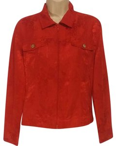 Chico's Chicossilkblend Red Jacket