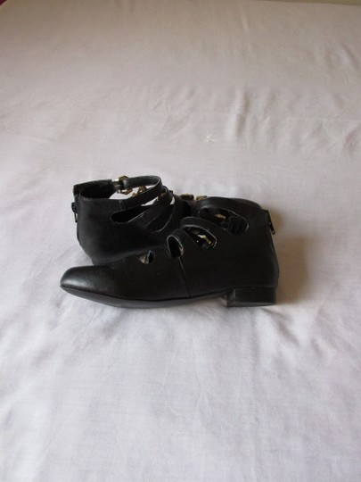 Penny Sue Comfortable Soft Leather Black - Gold Boots Image 1