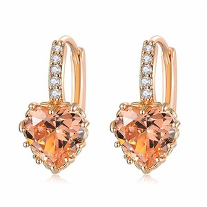 Fine Jewelry Vault Latest Cubic Zirconia Yellow Heart Lever Back Earrings