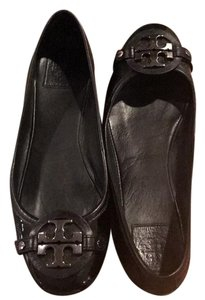 Tory Burch Black Patent Leather Flats