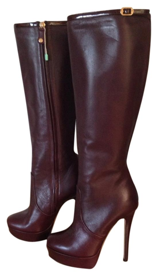 WOMENS Ballin Burgundy/Wine Italian Leather price Boots/Booties Cheaper than the price Leather 277197