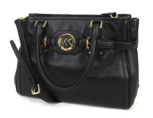 Michael Kors Leather Top Handles Tote in Black