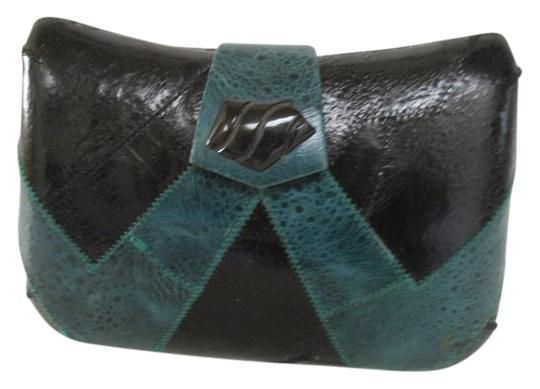 Preload https://img-static.tradesy.com/item/19847484/hard-shell-bodyshoulder-black-and-teal-leather-cross-body-bag-0-1-540-540.jpg