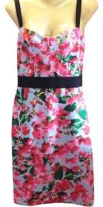 MILLY short dress Pink, green, blue, black Bustier Bodycon Floral on Tradesy