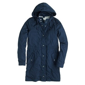 J.Crew Hood Lined Lightweight Fall Navy Blue Jacket