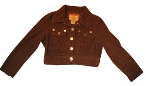 True Religion Corduroy Crop Military Jacket
