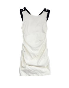Nicole Miller short dress White Textured Gathered on Tradesy
