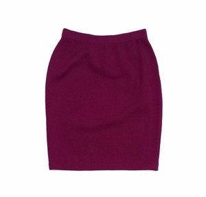 St. John Megenta Knit Suit Skirt