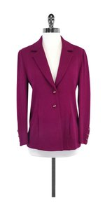 St. John Magenta Knit Suit Jacket