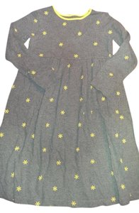 Lands' End short dress Heather grey and yellow Snowflake Girls on Tradesy