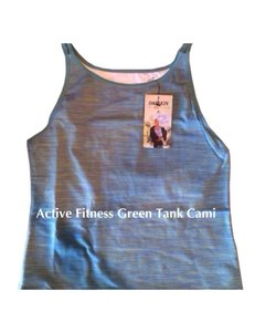 Danskin Danskin Women's Green Active Performance Yoga Bliss Tank T-Shirt L