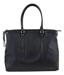 Gucci Travel Leather Black Travel Bag