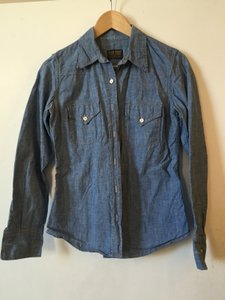 Jean Shop for JCrew Button Down Shirt Blue