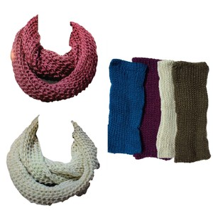 Belle Boutique Belle Women's Crochet Double Layer Scarf