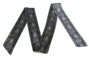 Narrow Scarf or Obi Sash - Rich Looking Colors and Pattern