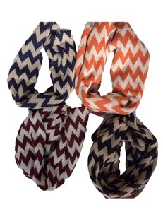 Belle Boutique Belle Women's Crochet Double Layer Chevron Scarf